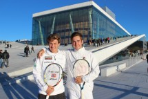 Casper Ruud and Victor Durasovic prepare for week 2 at the Opera House in Oslo