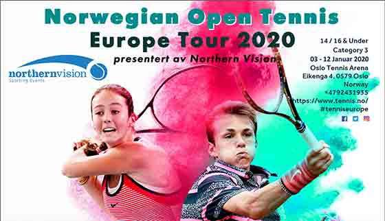 Another Tennis Europe event gets under way in Oslo.