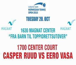 Vi ønsker Casper Ruud velkommen til Collector Norwegian Open